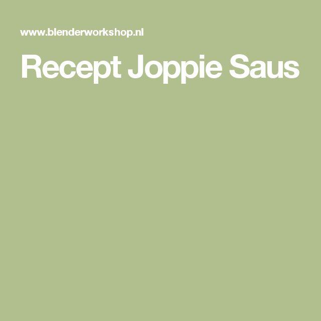 Recept Joppie Saus