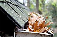 Leaves are falling, which is a beautiful sight, but when they land in your gutters, it can cause complications during rainfall. Clean gutters help prevent damage to your landscaping and siding and will save you money in the long run — clean out the gunk before it's too late! #raingutters #householdtips #homemaintenance #homeownersinsurance #homeowners