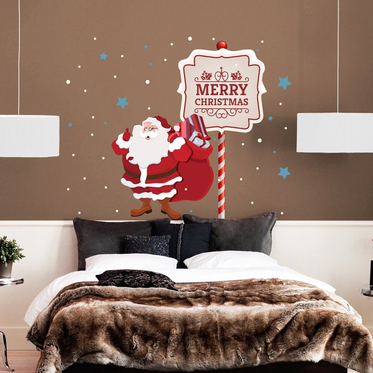 Best Christmas And New Year Wall Decals Images On Pinterest - Custom vinyl wall decals christmas