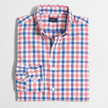 Size Medium  J.Crew+Factory+-+Washed+shirt+in+multicolor+tattersall