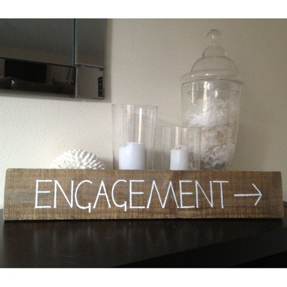 Engagement Party  Vintage Timber Wooden Sign by WavesAndWeddings, $30.00