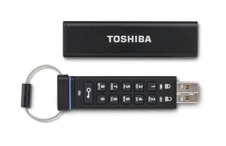 Toshiba Encrypted USB Flash Drive (PFU032D-1BEK)