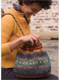 Fair Isle Knitted Bag Pattern | InterweaveStore.com