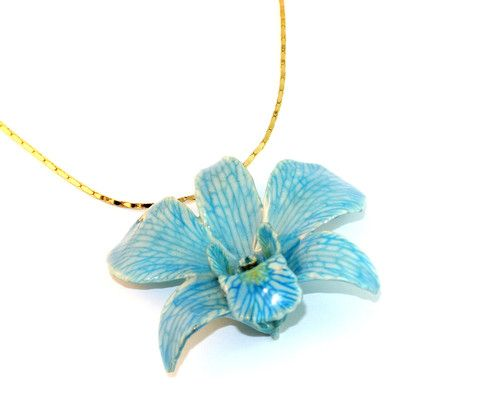 Dreamy Orchid Sarah Blue real flower jewellery Collections