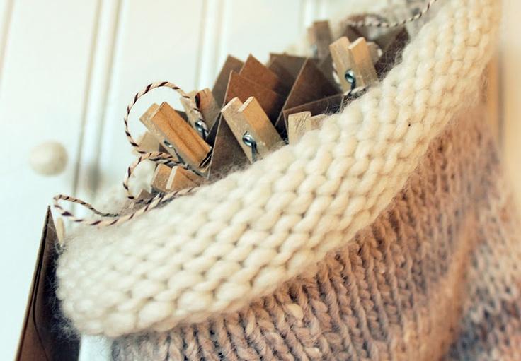 Advent Calendar Handmade Knitting : Moore minutes handmade knit stocking advent calendar