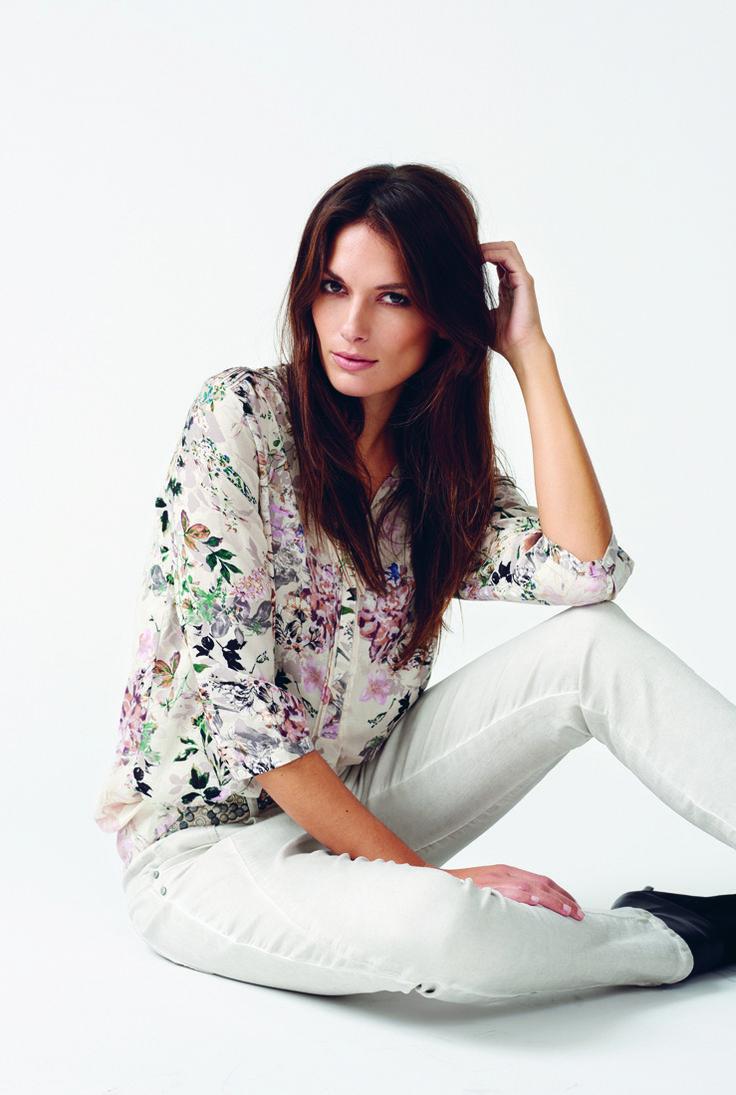 soyaconcept - shirt - pants - jeans - flowers