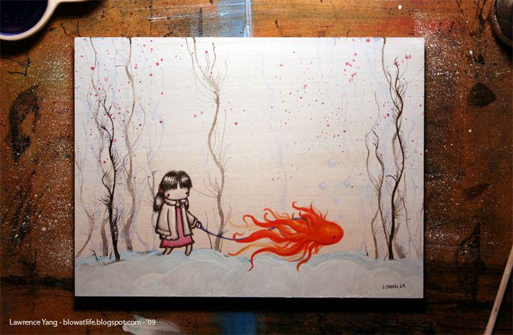 Leash.Little Girls, Glorious Goldfish, Poems, Goldfish Walkies2 Jpg 800 523, Girls Walks, Artsy Schmartsi, Artsy Fartsy, Fishy