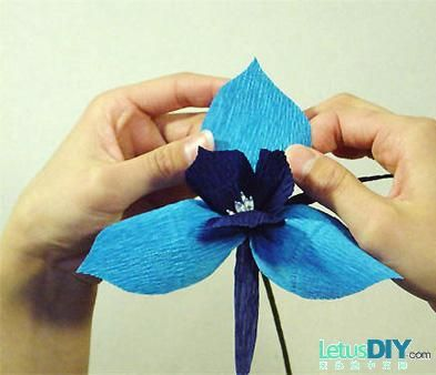 16 best paper flowers ukraine images on preparation materials wrinkles art paper two kinds of color white construction paper and used as template orchid mightylinksfo