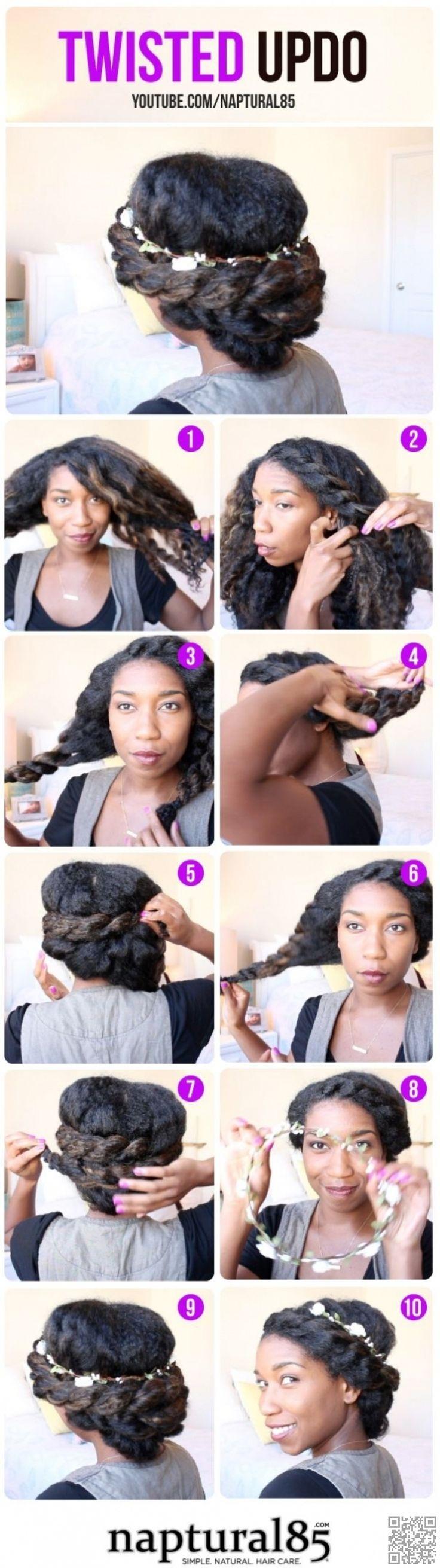 5. #Bohemian Flat Twist Updo - 67 #Crushworthy Natural Hair Ideas from #Pinterest ... → Hair #Ideas