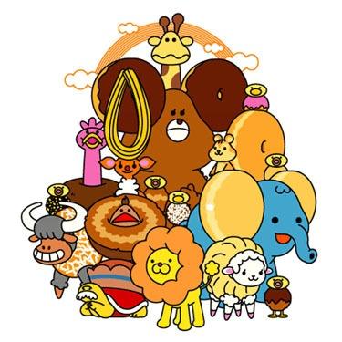mister donut's pon de lion & his sweet friends