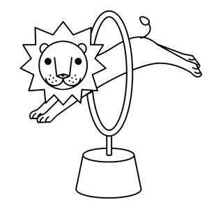 Afbeeldingsresultaat voor kleurplaat circus leeuw