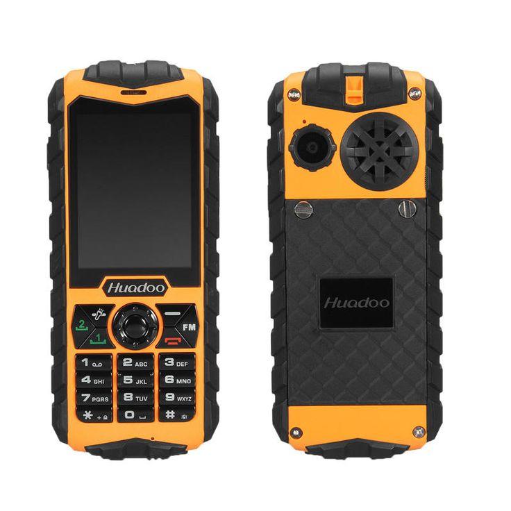 Huadoo H3L IP68 1300mAh 2.4Inch Flashlight Dual SIM Dual Standby Rugged Cell Phones Sale - Banggood.com