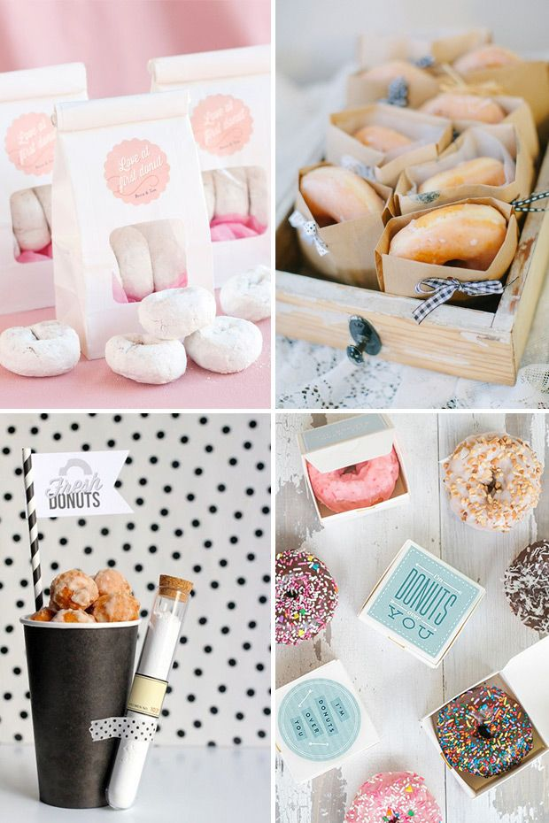 Donut wedding favours - a sweet treat for your guests! | onefabday.com