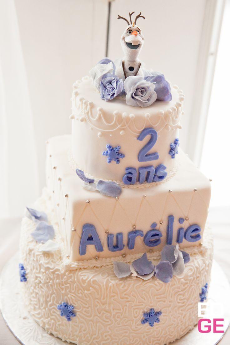 gâteau Olaf pour fête Reine des Neiges