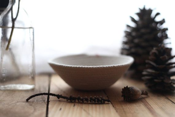 Tiny Cotton Rope Bowl by FloraFaunaCollective on Etsy