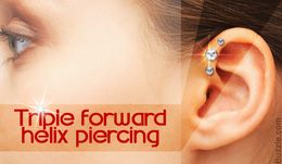 awesome Get Your Swag On: Information About Triple Forward Helix Piercing