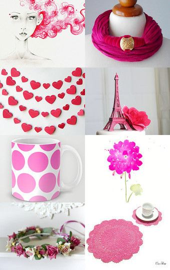 Hot pink/ create a vivid  fall look by Elena Doniy on Etsy--Pinned with…