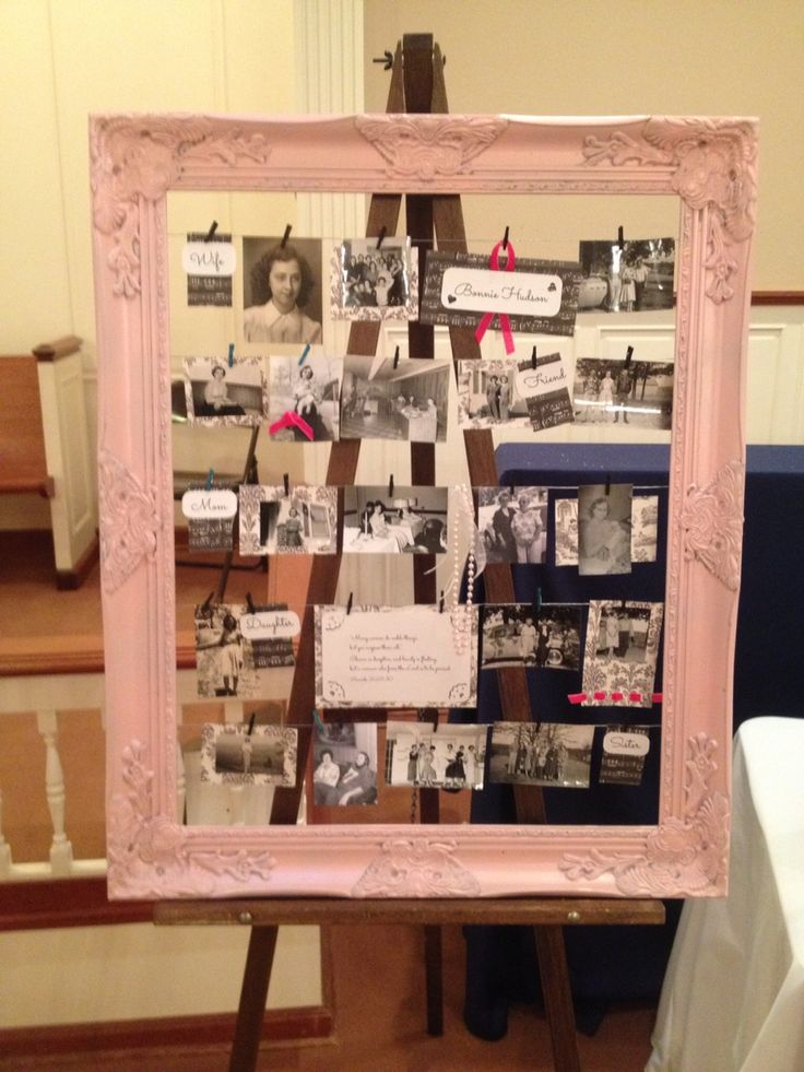 Sharing how I used this familiar photo collage idea to display memories of my mom (photos, scripture and roles) for her funeral.
