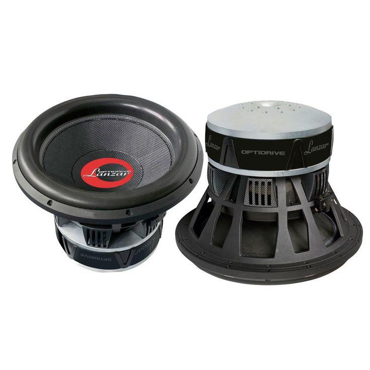 Lanzar OPTI1537D Optidrive 15-Inch 2-Ohm Die-Cast Woven Carbon Fiber Cone Dual  Subwoofer