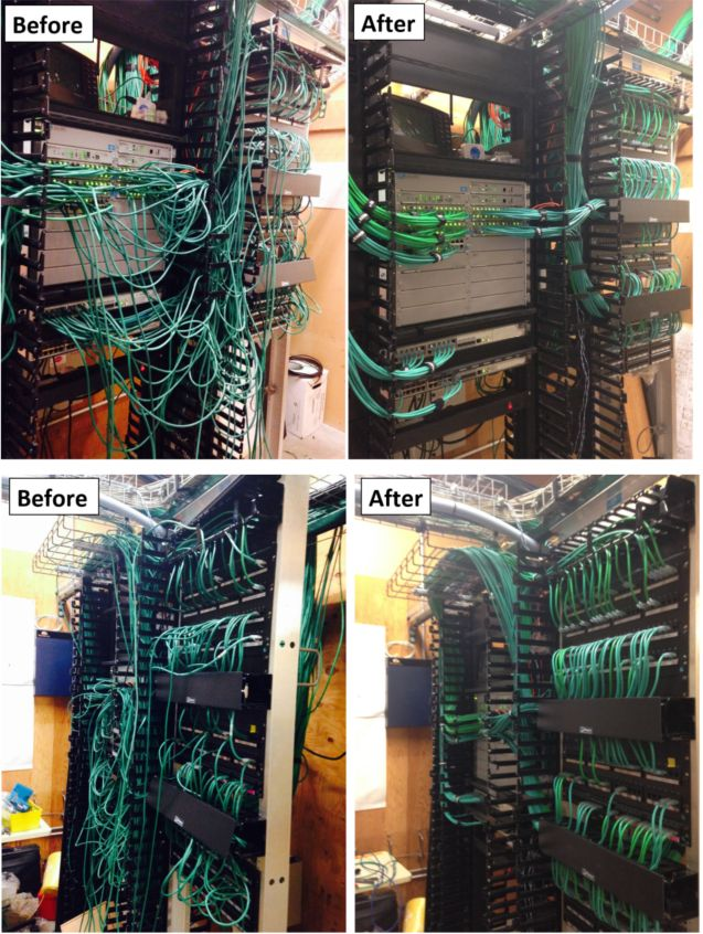 Cleaning Up A Network Closet. Before And After