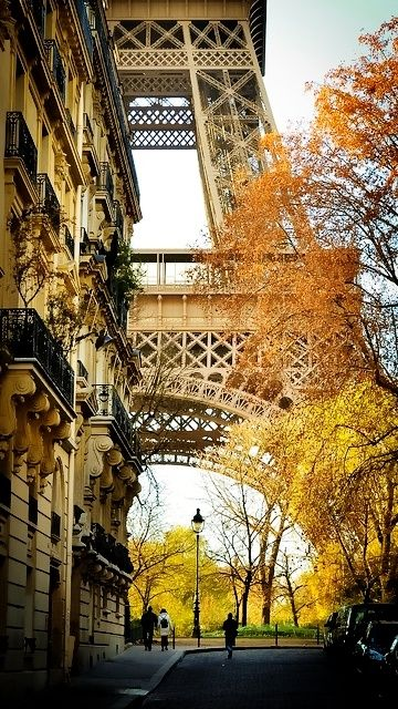 Autumn at the Eiffel Tower in Paris