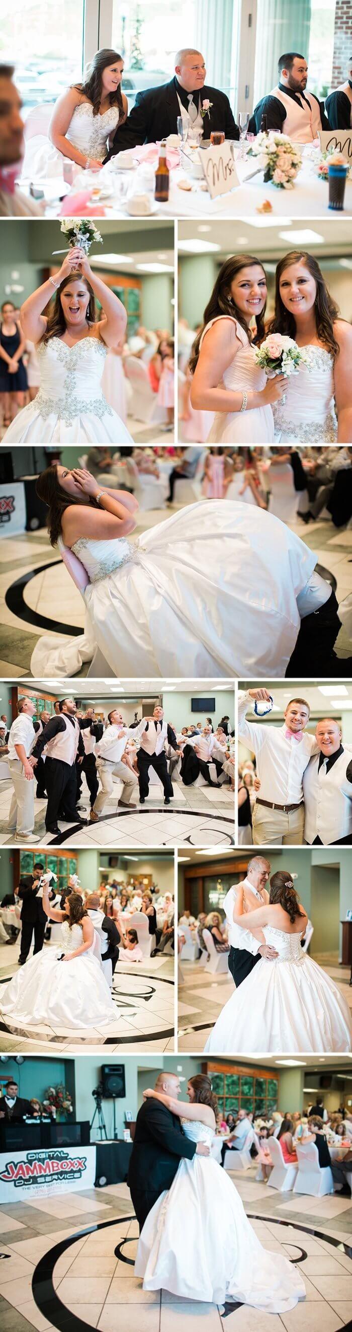 Vom Brautstrauß-Werfen über die Strumpfband-Versteigerung bis zum Vater-Tochter-Tanz jeder Brauch bei der Hochzeitsfeier wurde im Prinzessin Hochzeitskleid zelebriert. I © Jasmine White Photography