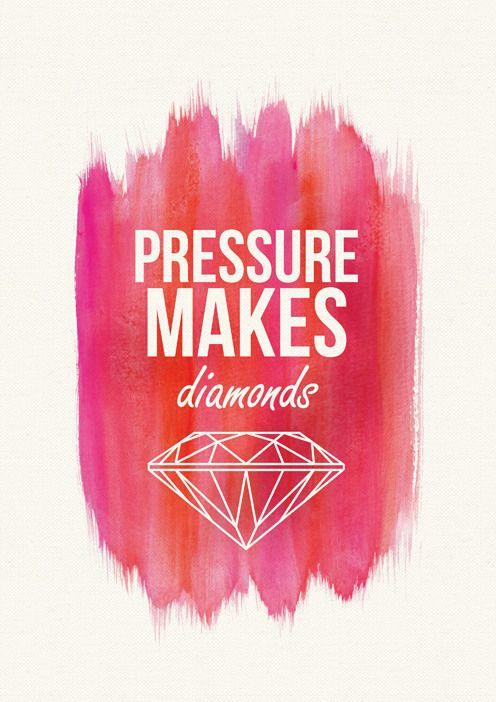 Printable Quote (A4) 'Pressure Makes Diamonds'
