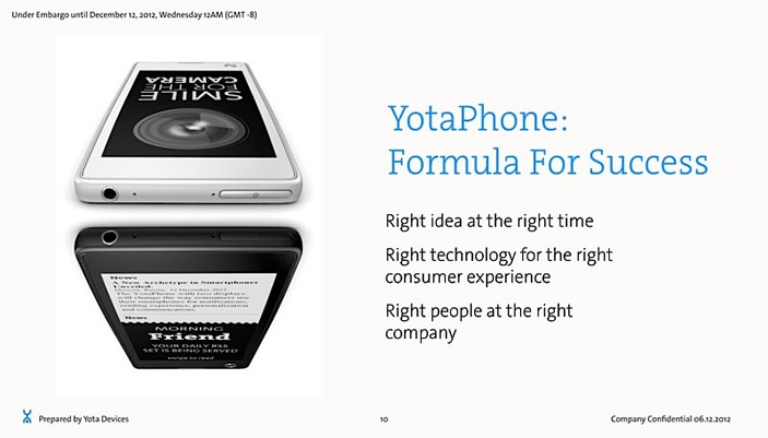 Russian YotaPhone Dual-Screen Smartphone with 4.3-inch LCD And E Ink Displays Unveiled at MWC 2013