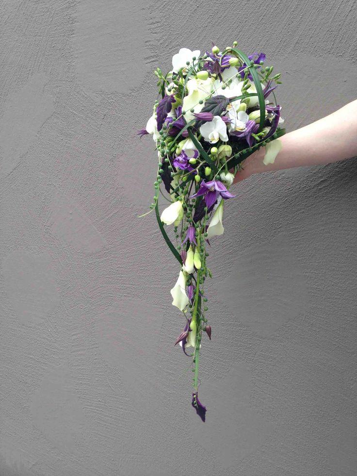 Ramo de novia en forma de gota