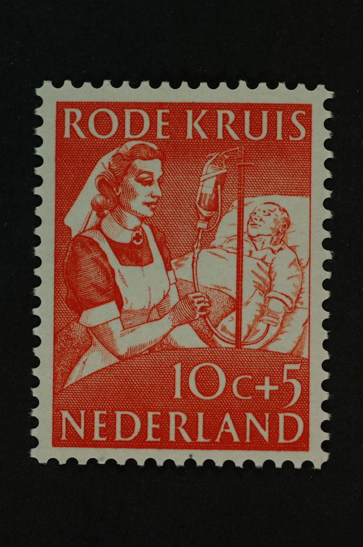 Postzegel Nederland 1953, Rode Kruispostzegel, Bloedtransfusie