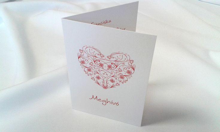 egyedi grafikus esküvői meghívó 076.1