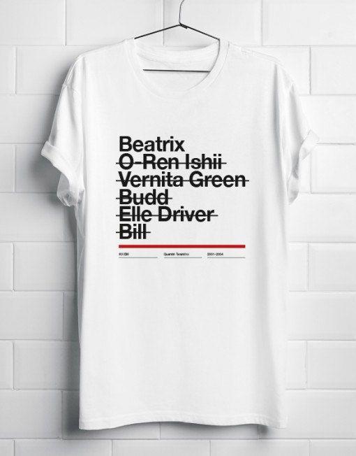 Kill Bill TShirt T-Shirt T shirt Camiseta Quentin by BagApart