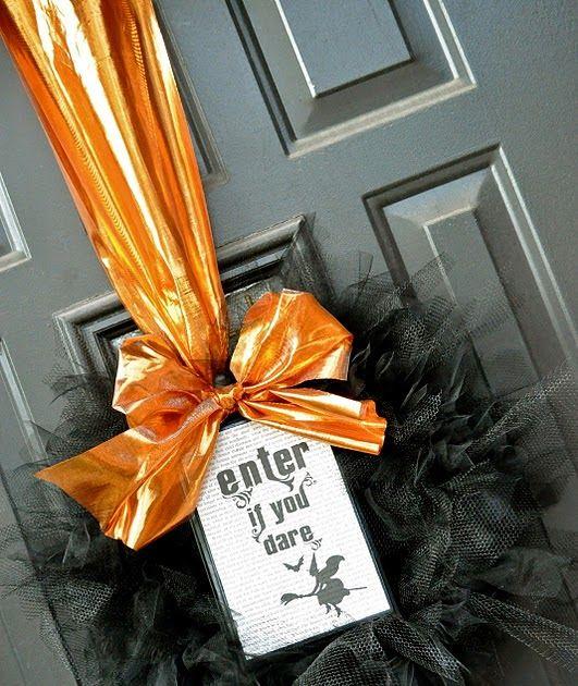 halloween tulle wreath {tutorial} | Little Birdie Secrets