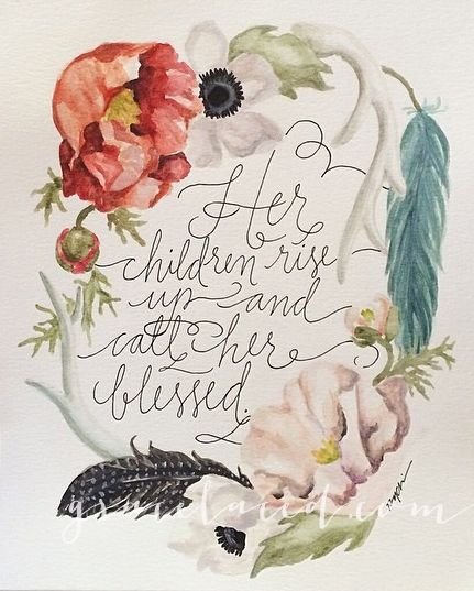 Call Her Blessed and Pink Peonies {New In Shoppe} — gracelaced- These prints are so beautiful and perfect for Mother's Day! GREAT PRICE too!!