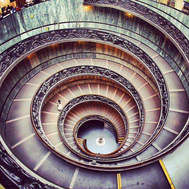 Spiral Staircases In Vatican City Architecture