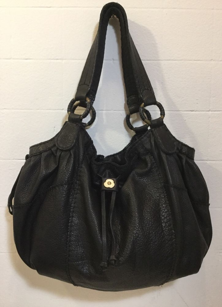 54f7fe23275a Lucky Brand Black Leather Satchel Everyday Carry Great Condition ...