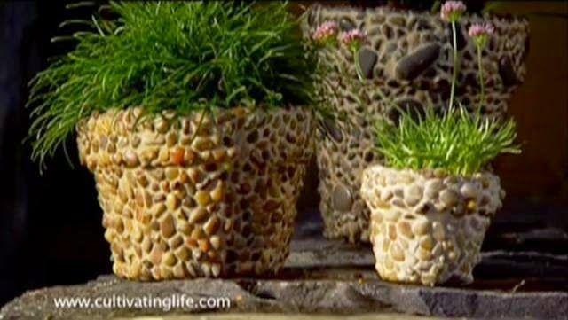 Πώς να φτιάξετε υπέροχες γλάστρες απο βότσαλα   25 φανταστικές ιδέες!