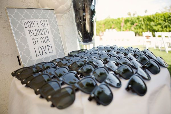 don't get blinded by our love...haha. good idea for favors.