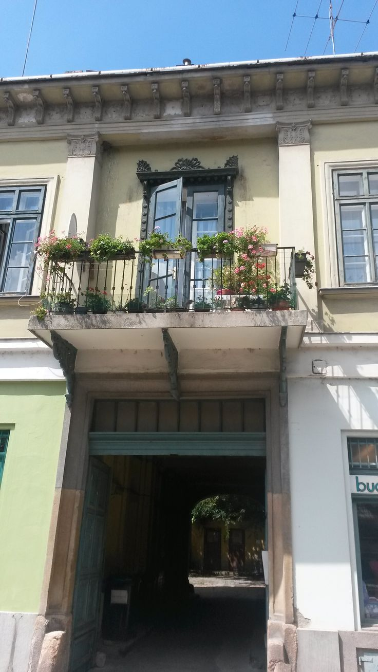 Architecture: old doors and windows in Vác, Hungary