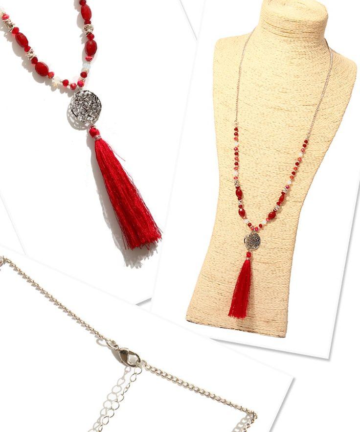 Элегантный бусины цепь с кисточкой ожерелье для леди N3-7176-425