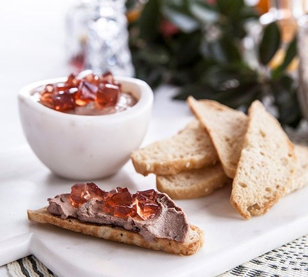 Annabel Langbein Confit Chicken Liver Parfait with Rose Jelly Cubes Recipe