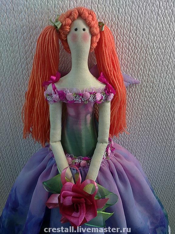Куклы Тильды ручной работы. Ярмарка Мастеров - ручная работа Цветочный ангел Скарлет. Handmade.