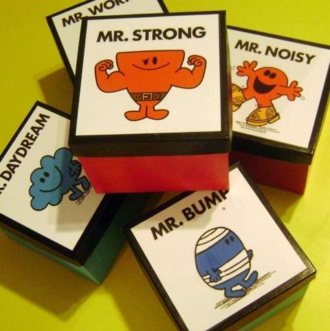 Mr Men Party Favour Boxes