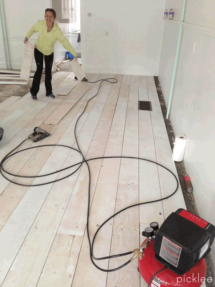 make your own wood floors with plywood!