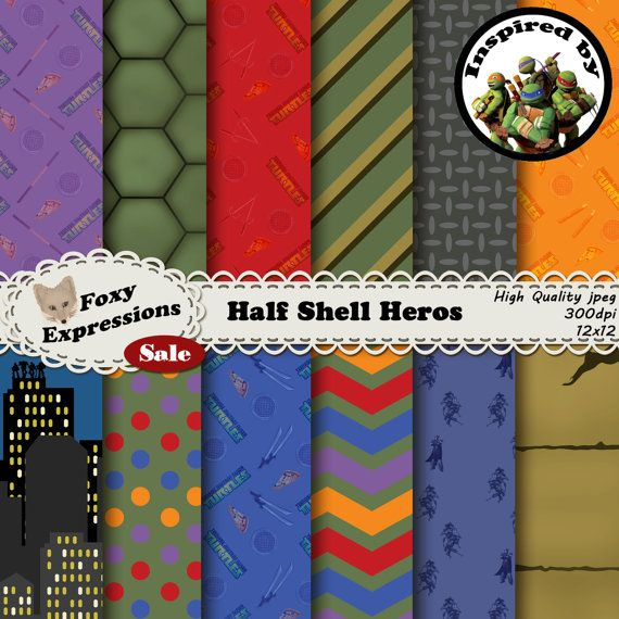 Half Shell Heros digital paper is inspired by by FoxyExpressions