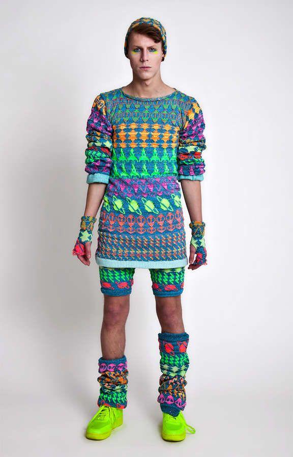 Electric Raver Knitwear - The Jylle Navarro Fall/Winter 2013 Lookbook is Sci-Fi Chic (GALLERY)