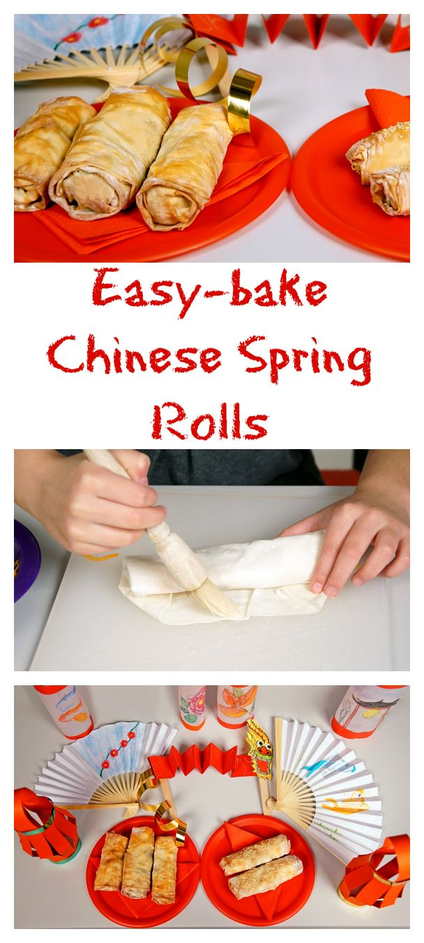 Make your own Easy-bake Spring Rolls for Chinese New Year!