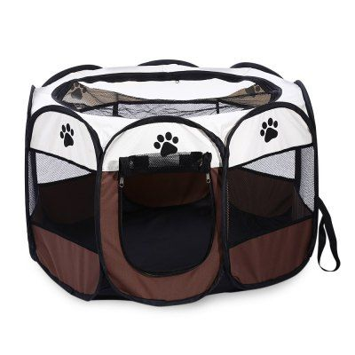 Great Foldable Portable Pet Dog Cat Playpen Exercise Kennel