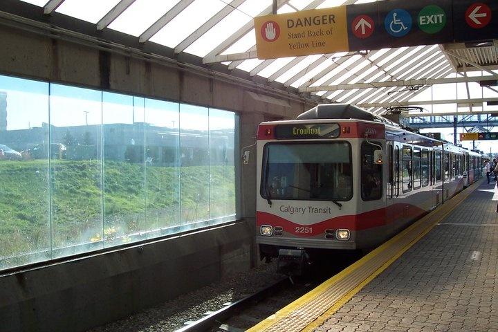 Heading For Calgary City. The C train