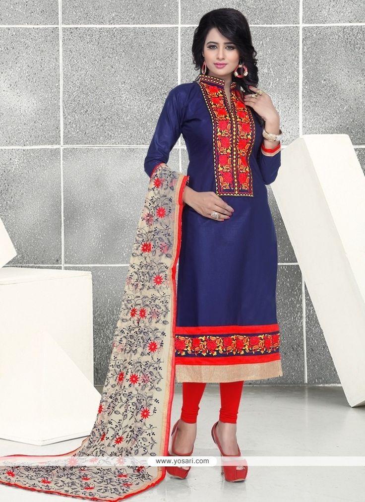 Pretty Resham Work Churidar Designer Suit Model: YOS8090